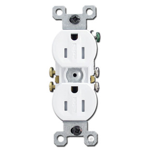 White Tamper Proof 15a Receptacle Outlet Kyle Switch Plates