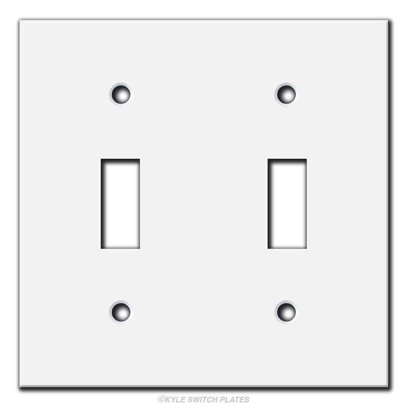 4x4 short flat narrow 2 toggle light switch cover