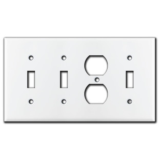 Combo Wall Plates for Duplex Outlet & Toggle Switches