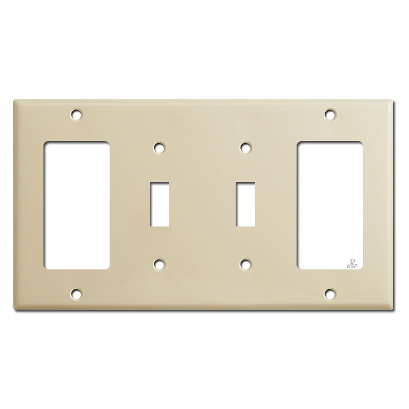 Vintage Polished Brass Decora GFCI Switch Outlet Wall Cover 2 Gang Plate Sierra