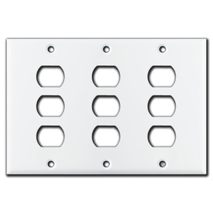 White Covers for 9 Despard Lighting Switches