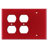 2 Duplex Outlet 1 Blank 3-Gang Outlet Cover Plate - Red