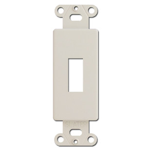 Light Almond Decorator To Toggle Switch Plate Adapter