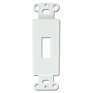 White Decorator to Toggle Switchplate Insert Fillers