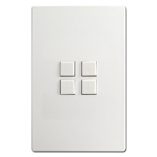 Touch-Plate Mystique 4 Switch Control Stations - White