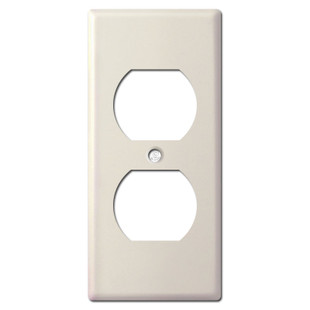 """Undersized Narrow 2"""" Receptacle Cover - Light Almond"""