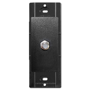 Satin Black Coaxial Cable Jack Insert - Lutron Midnight
