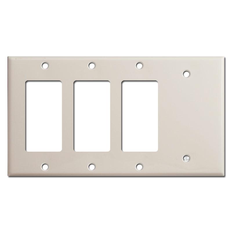 3 Decor Rocker 1 Blank Light Switch Cover Light Almond