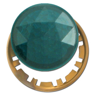 Green Circular Faceted Jewel For Pilot Lighted Wall Switch