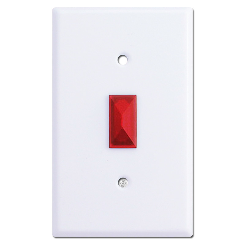 Red Toggle Opening Jewel for Light Switchplates