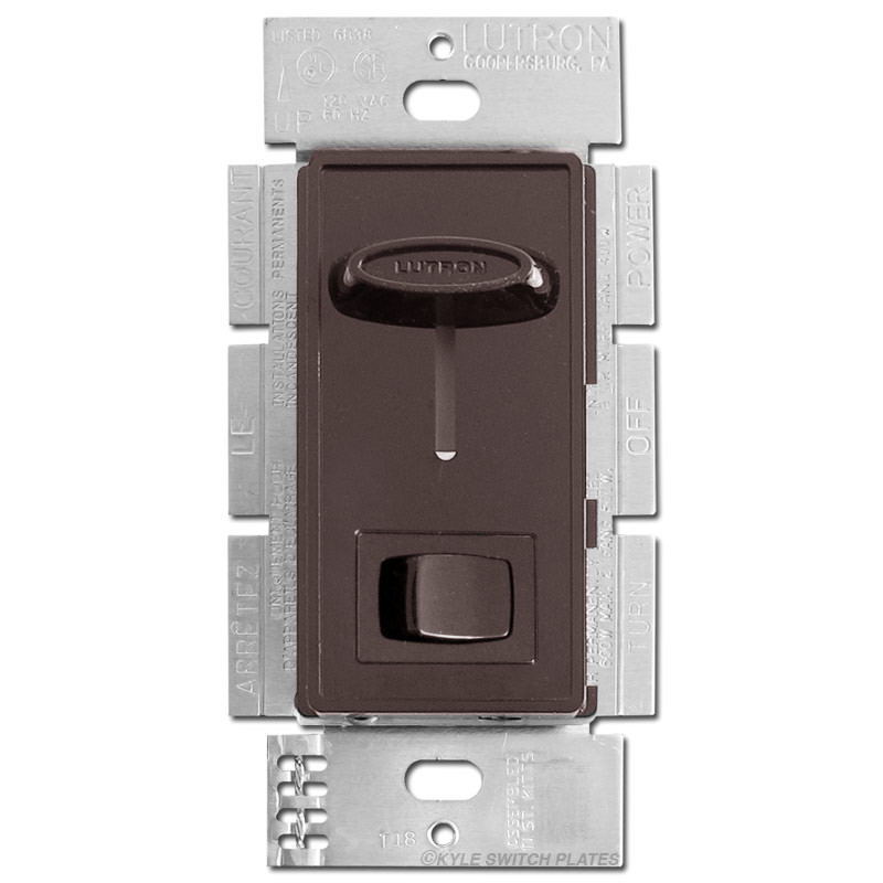 Cfl Led Universal Sliding Dimmer On Off Button Lutron Brown