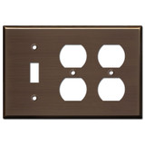 2 Outlet 1 Toggle Light Switch Cover - Venetian Bronze