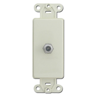 Ivory Decora To Coax Cable Insert I on Leviton Decora Phone Jack Wall Plate