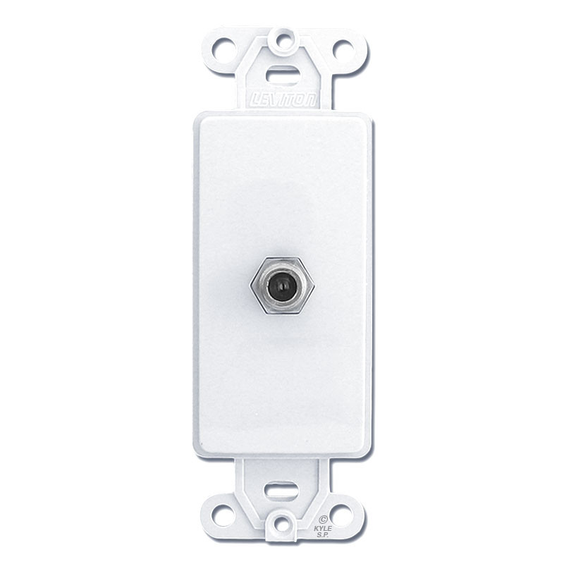 Decora Wall Plate Insert Cable Opening W on Leviton Decora Phone Jack Wall Plate