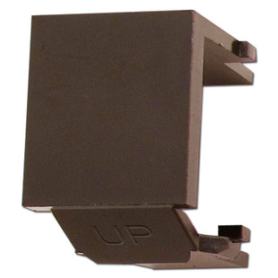 Leviton Brown Snap-In Blank Module for Multimedia Frame