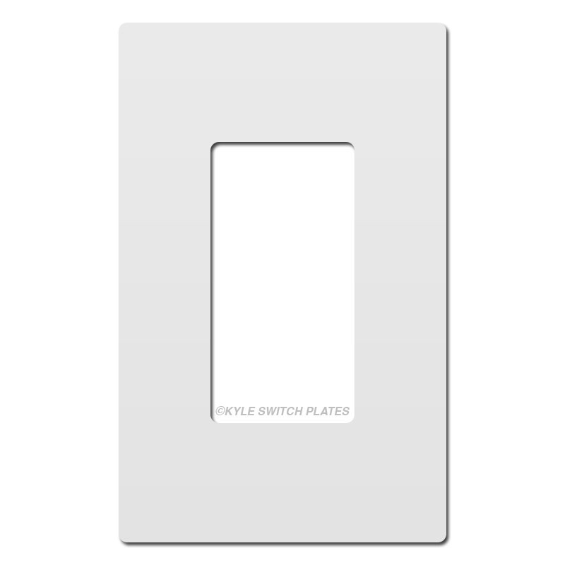 White Plastic Screwless Wall Plate Cover 1 Gang Legrand
