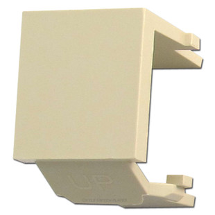 Leviton Ivory Snap-In Blank Module for QuickPort Multimedia Frame