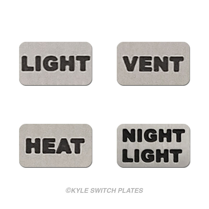 Light Heat Vent Night Light Switch Id Wall Plate Labels