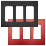 3 GFI Rocker Screwless Wallplate Lutron Claro - Satin Plastic