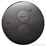Round In-Floor Duplex Outlet Box Cover - Dark Bronze