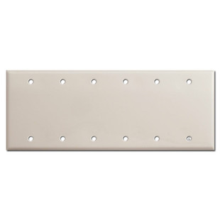 6 Blank Wall Switchplate Cover - Light Almond