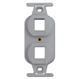 Gray Duplex Outlet Insert with 2 Port Openings