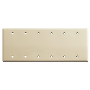 6 Blank Electrical Wall Plate - Ivory