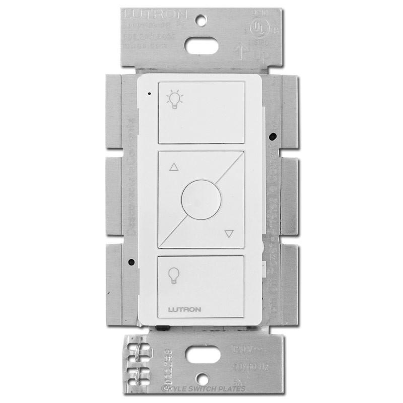 Lutron Wireless Switch >> Wireless In Wall All Load Smart Dimmer Elv Lutron Caseta White