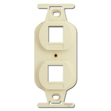 Ivory Duplex Outlet Insert with 2 Port Openings