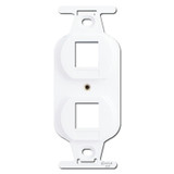 White Duplex Outlet Insert with 2 Port Openings