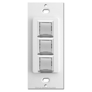 Touch-Plate Low Volt Innova Switch 3 LED Control - White
