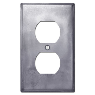 1 Duplex Outlet Cover - Raw Steel Paintable