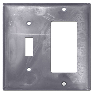 Toggle + GFI Decora Outlet Switch Plates - Raw Steel Paintable