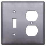 Toggle Outlet Cover Plate - Raw Steel Paintable