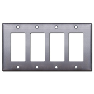 4 Decor Rocker or Outlet Cover - Raw Steel Paintable