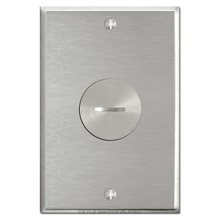 Floor Power Outlet Covers - Nickel Single Outlet Plate