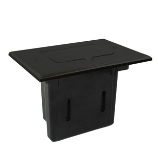 Flip-Lid Decor Electrical Outlet Slider Floor Box - Dark Bronze