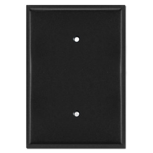Extra Large Blank Oversized Light Switch Cover 6.4'' x 4.5'' - Black