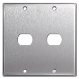 2-Gang Single Despard Electrical Wall Plate - Satin Stainless Steel