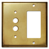 1 Decor 1 Pushbutton Wall Switch Plate - Raw Brass