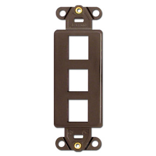 Brown Leviton 3 Port Frames for Modular Jack Adapters