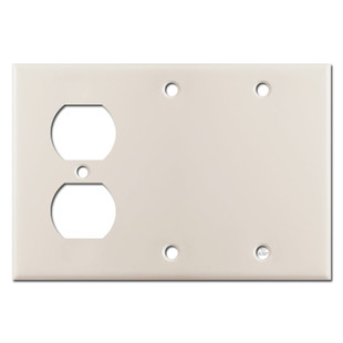 1 Duplex 2 Blank Switchplate - Light Almond