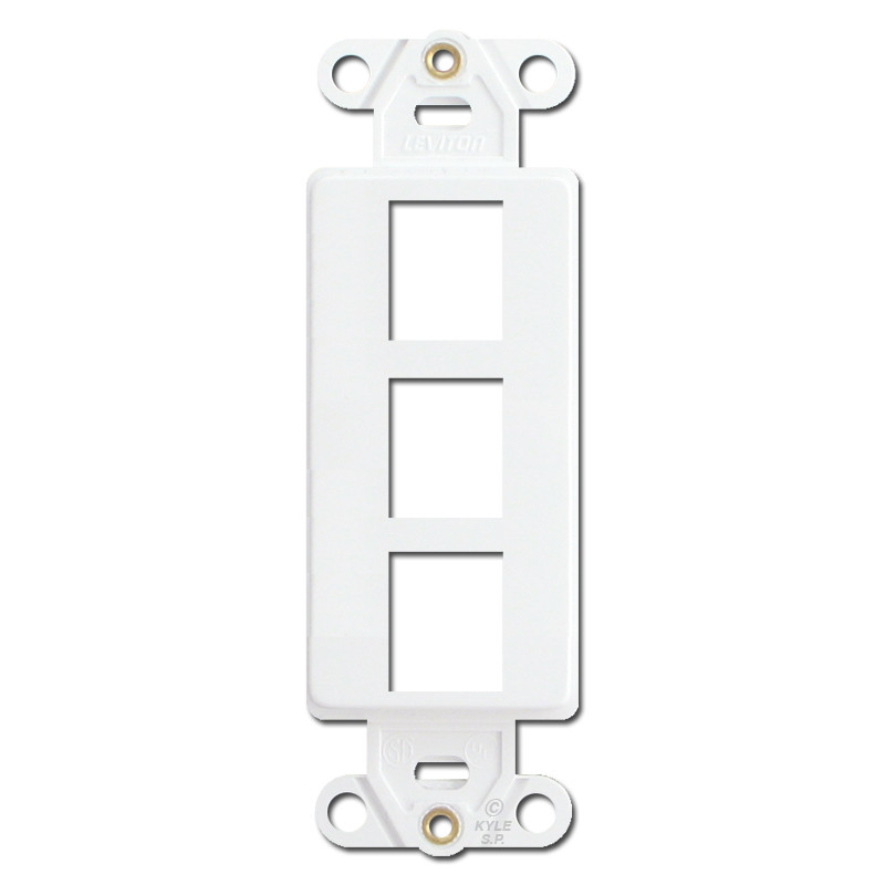 Leviton White 3 Port Frames for Modular Jack Adapters