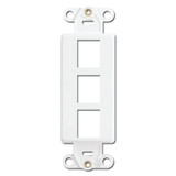 White Leviton 3 Port Frames for Modular Jack Adapters