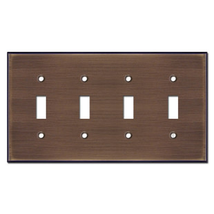 4 Toggle Light Switch Cover - Venetian Bronze