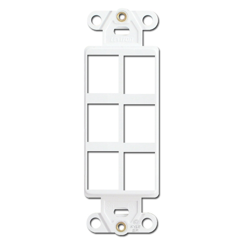 Leviton White 6 Port Frames for Modular Jack Adapters