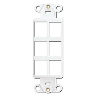 Leviton White 6 Port Frames for Modular Jack Adapters