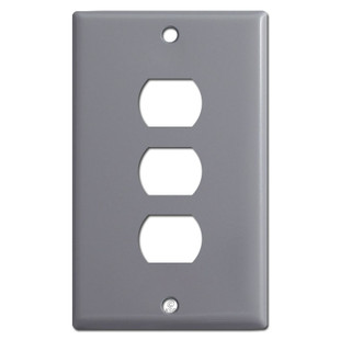 3 Stack Despard Switch Plate - Gray
