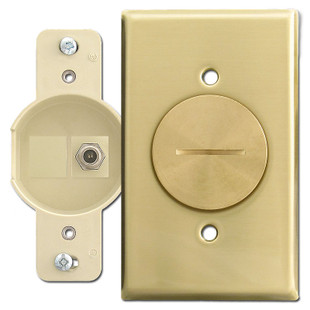 Floor Mount Quickport Coaxial F Connector Brass Switch
