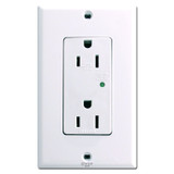White Surge Protected Decora Outlets Leviton